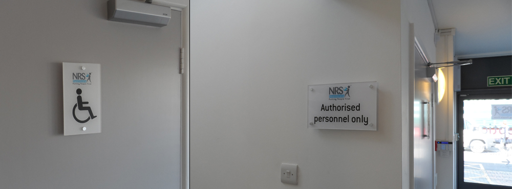 NRS Healthcare Internal Disabled Signs Split