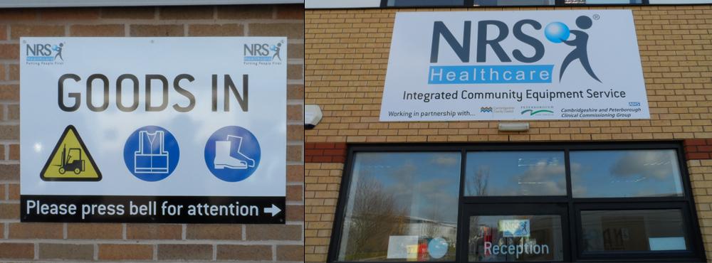 NRS Healthcare Outdoor Signage Split