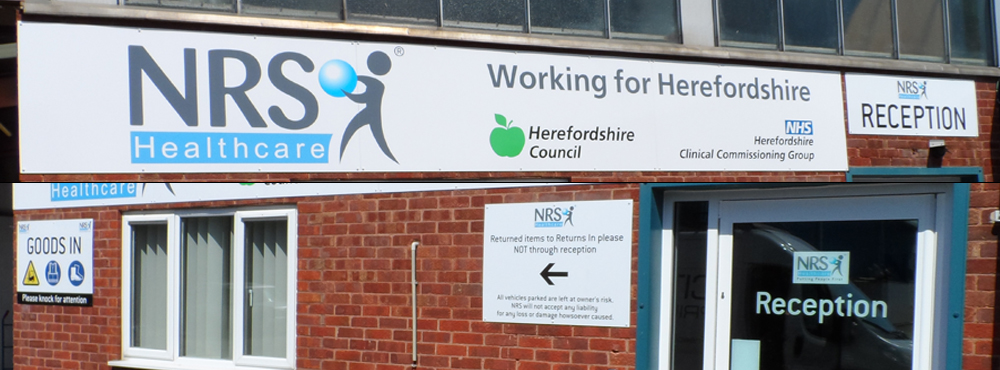 NRS Healthcare Outdoor Signs Split