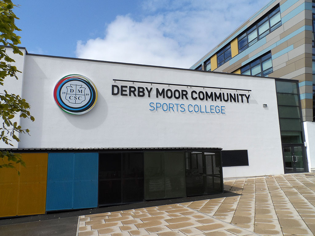 Derby Moor Community Sports College Signage