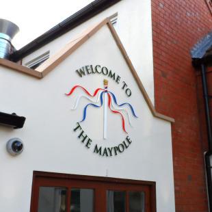 The Maypole Acrylic Letters & Logo