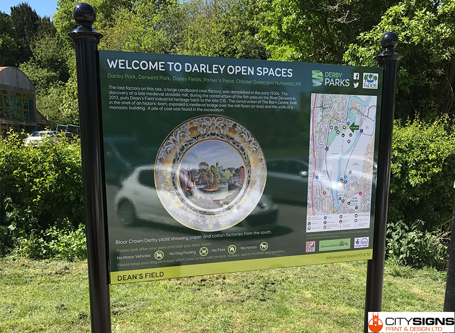 Darley-Open-Spaces-Derby-Installed-Information-Signs