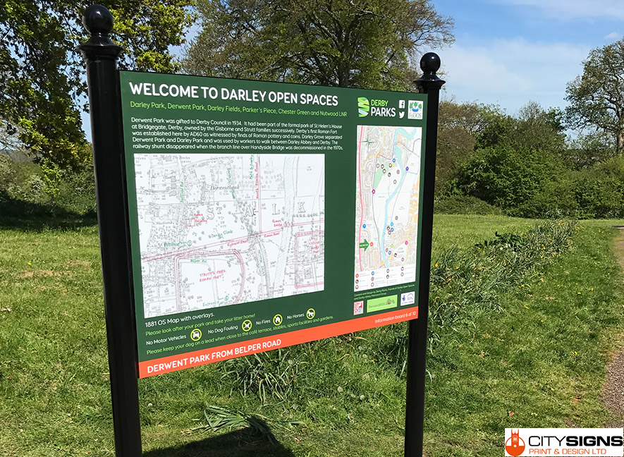 Derwent-park-information-board-installed