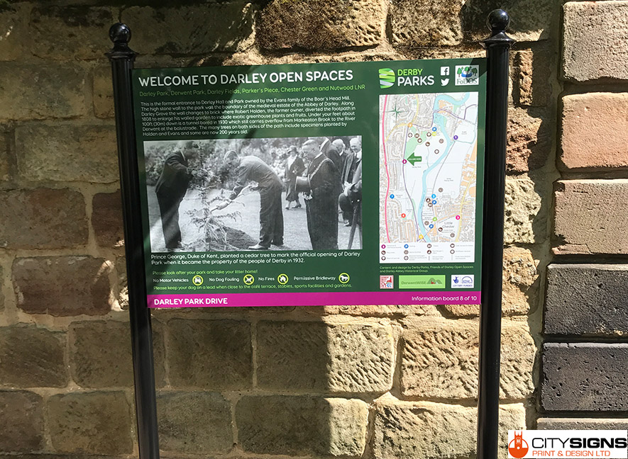 INFORMATION-BOARD-FITTED-DARLEY-PARK-DERBYSHIRE