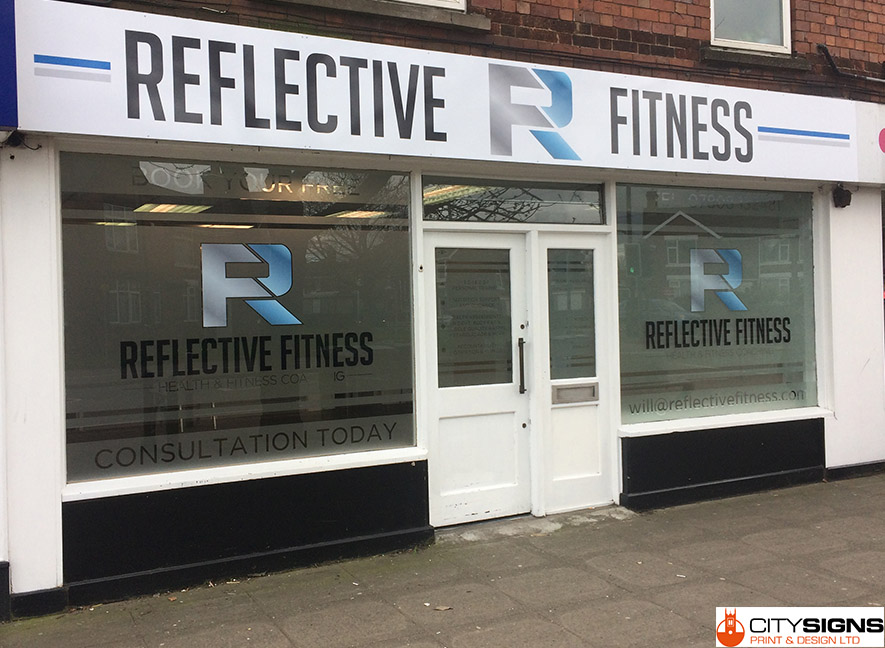 outdoor shop front signage fitted